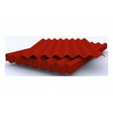 Шифер 8-ми волновой красный 1750*1130 мм полезн. 1,6 м.кв