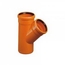 Тройник канализационный оранжевый 110 х 45 градусов